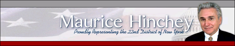 Click here to return to Congressman Hinchey's home page